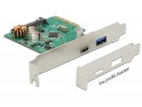 Delock PCI Express x4 Card > 1 x external USB Type-C™ female + 1 x external USB 3.1 Gen 2 Type-A female