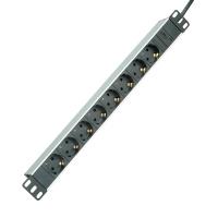 "ROLINE 19"" PDU for Cabinets 8x 2300W, IEC320 C14 M, Aluminium, 2.0 m"