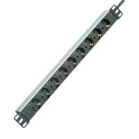 ROLINE PDU for Cabinet, 9x socket, 45°, 16A, Aluminium, 2.0 m