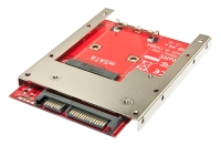 "Lindy 2.5"" SATA adapter for mSATA SSD (Latching connectors)"