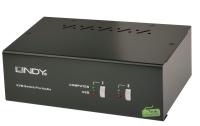 Lindy 2 Port Dual Head Single Link DVI-I KVM Switch Pro with TTU