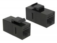 Delock Keystone Module RJ45 jack > RJ45 jack Cat.6 UTP black