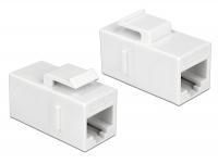 Delock Keystone Module RJ45 jack > RJ45 jack Cat.6 UTP white
