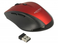 Delock Ergonomic optical 5-button mouse 2.4 GHz wireless