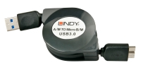 Lindy Retractable USB 3.0 Type A / Micro-B cable