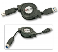 Lindy Roll-up USB 3.0 Type A/B cable