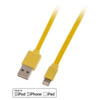 Lindy USB to Lightning Flat Cable yellow 1m