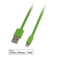 Lindy USB to Lightning Flat Cable green 1m
