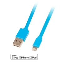 Lindy USB to Lightning Flat Cable, blue 1m