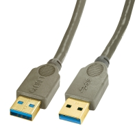 Lindy USB 3.0 cable type A/A anthracite, 0.5m