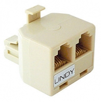 Lindy Adapter RJ11/12 connector to 2 x RJ-11/12 coupling (6P6C)