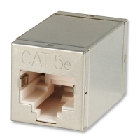 Lindy RJ45 STP double coupling, Cat. 5e