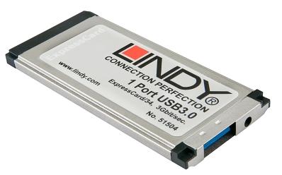 Lindy USB 3.0 ExpressCard, 1 Port