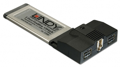 Lindy ExpressCard FireWire 1394b & 1394a card, 3 Port