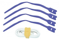 Lindy Hook and Loop Cable Tie, 300mm (10 pack), Blue