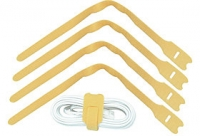 Lindy Hook and Loop Cable Tie, 300mm (10 pack), Yellow