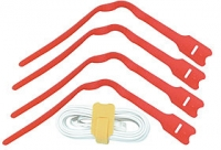 Lindy Hook and Loop Cable Tie, 300mm (10 pack), Red