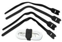 Lindy Hook and Loop Cable Tie, 300mm (10 pack), Black
