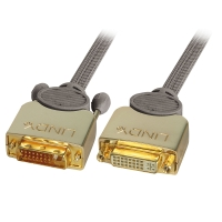 Lindy Gold DVI-D Dual Link Extension Cable M/F, 2m