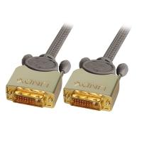Lindy Premium Gold DVI-D Dual Link Cable, 0.5m