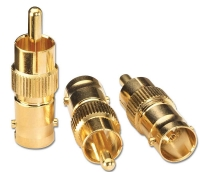 Lindy BNC Female to Phono Male Adapter (3 Pack)