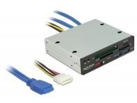 Delock 3.5″ USB 3.0 Card Reader 4 slot + 1 x USB-C™ female + 3 x USB 3.0-A female