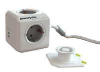 Lindy Multiple socket PowerCube with 2 USB ports and 3m cable with Schuko plug