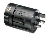 Lindy All-in-one Mains Plug & USB Travel Adapter