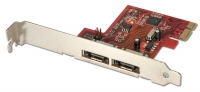 Lindy SATA 6Gb/s card, 2 external ports, PCIe