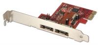 Lindy SATA 6Gb/s card, 2 external ports, PCIe