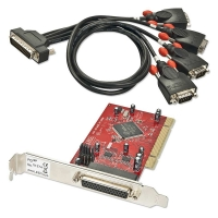 Lindy 4 Port Serial RS-232, 16C950, 128 Byte FIFO, PCI Card