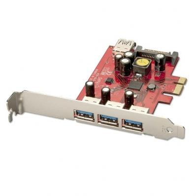 Lindy USB 3.0 Card - 3 + 1 Port, PCIe