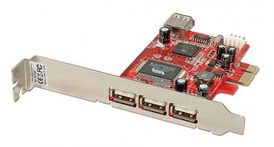 Lindy 3 + 1 Port USB 2.0 Card, PCI Express Bus