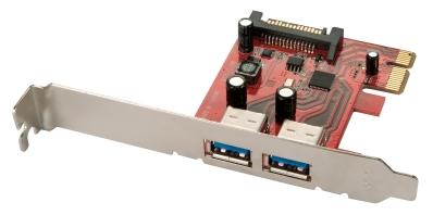 Lindy 2 Port USB 3.0 Card, PCIe - SATA power connector