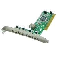Lindy USB Card - 4+1 Port USB 2.0, PCI (32 Bit)