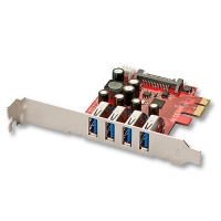 Lindy Premium USB 3.0 card, 4 Port, PCIe