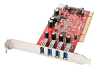 Lindy 4 Port USB 3.0 Card, PCI