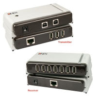 Lindy USB 2.0 Cat.5 Extender Premium 100m 7 Port for 2 PCs