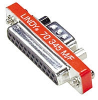 Lindy Mini Serial Adaptor, 25 Way D Female to 9 Way D Male