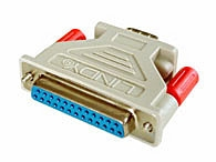 Lindy Serial Adapter, 25 Way D Female to 9 Way D Male
