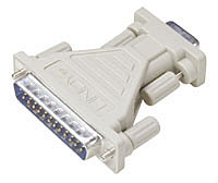 Lindy Serial Adapter, 25 Way D Male to 9 Way D Female
