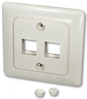 Lindy Wall Box DE for 2 Keystone modules