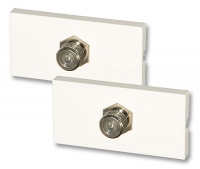 Lindy Snap-in Module with 1x Female connector F/F, 2 pack