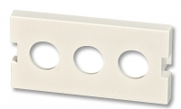 Lindy Snap-in Module for 3x BNC or F connectors, 4 pack