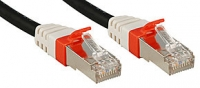 Lindy CAT6a SSTP LSOH Network Cable, Black, 7.5m