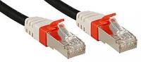 Lindy Cat.6 (A) SSTP / S/FTP PIMF Premium patch cable, 10 GBit, halogen-free, black, 50m