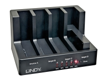 Lindy USB 3.0 & eSATA Docking & Clone Station Basic for 4 SATA hard drives