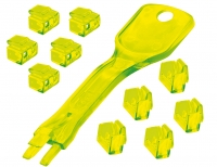 Lindy 10 x RJ-45 Port Blockers with Key, Yellow