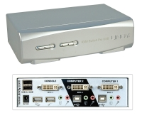 Lindy 2 Port KVM Switch Pro USB 2.0, DVI-I Single Link with TTU