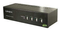 Lindy 4 Port Dual Head Single Link DVI-I KVM Switch Pro with TTU